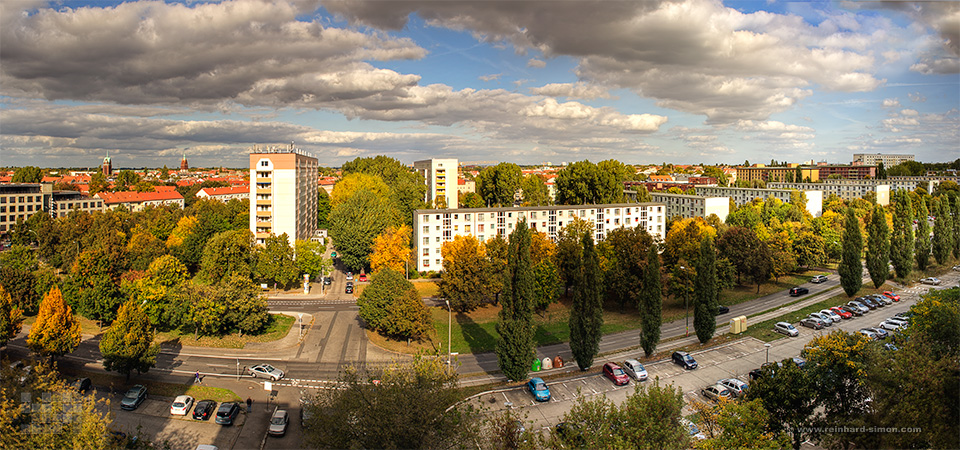 Wohnungsbaugesellschaft Zentrum - Häuser in der Michelangelo Straße in Berlin
