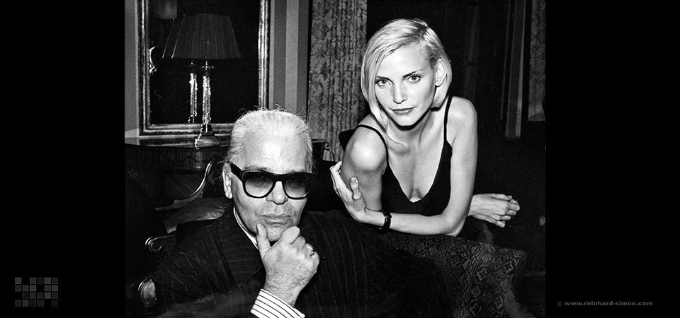 Karl Lagerfeld und Nadja Auermann für die Welt