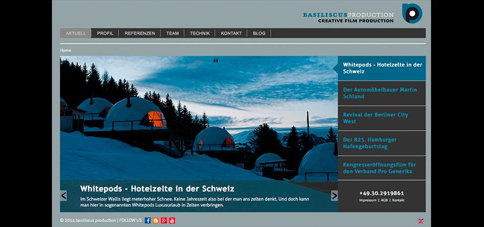Screenshot der Webseite basiliscus.net
