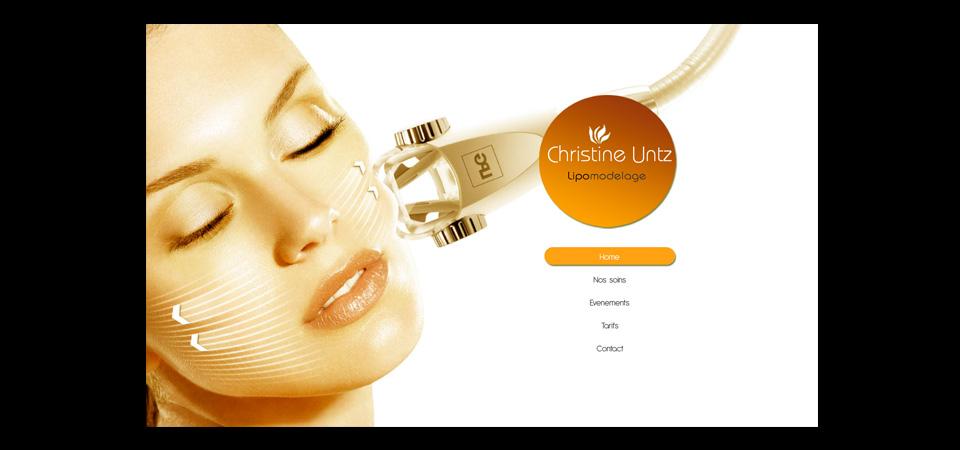 Screenshot der Webseite christine-untz.fr