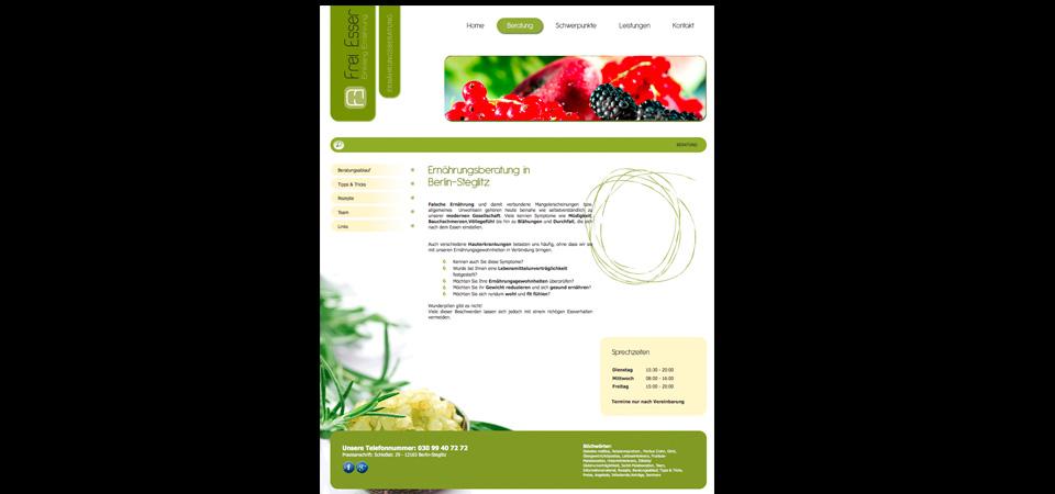 Screenshot der Webseite freiesser.com